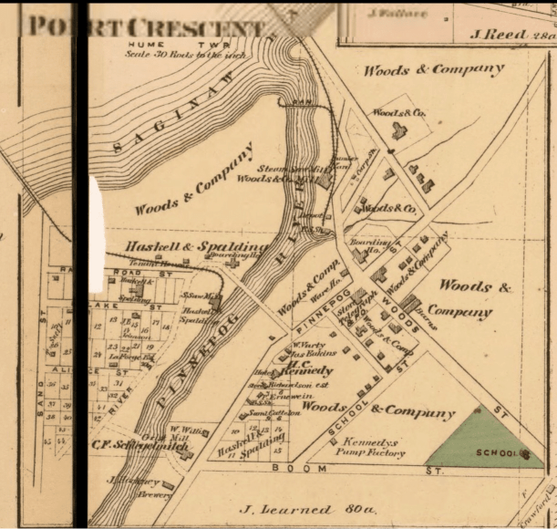 Port Crescent Town Map of the Ghost Town