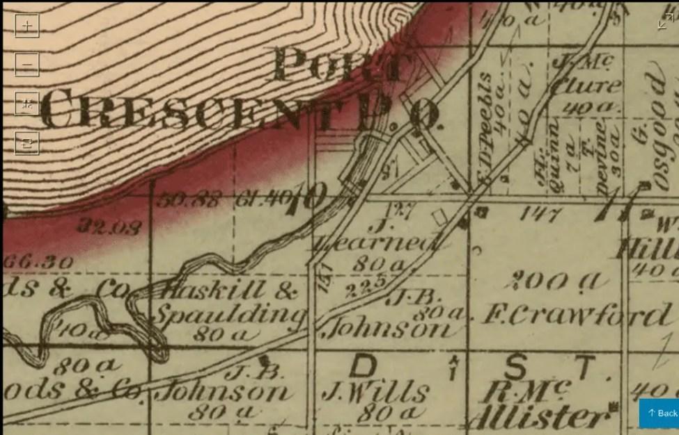 Port Crescent Plat Map off of M-25