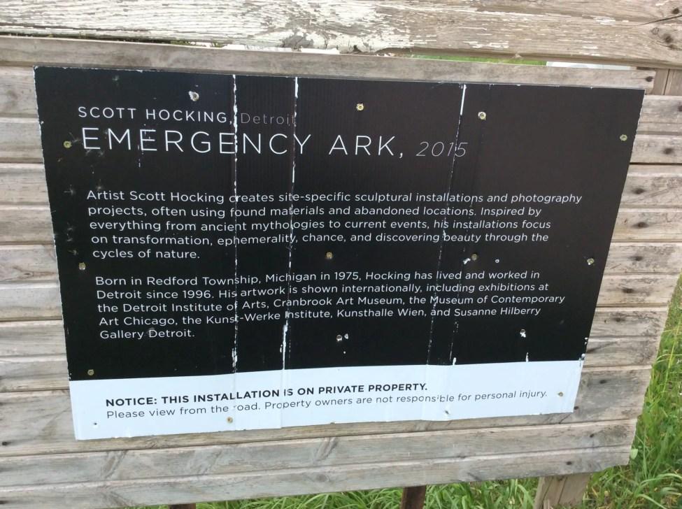 Emergency-Ark-Barn-Art-Sign