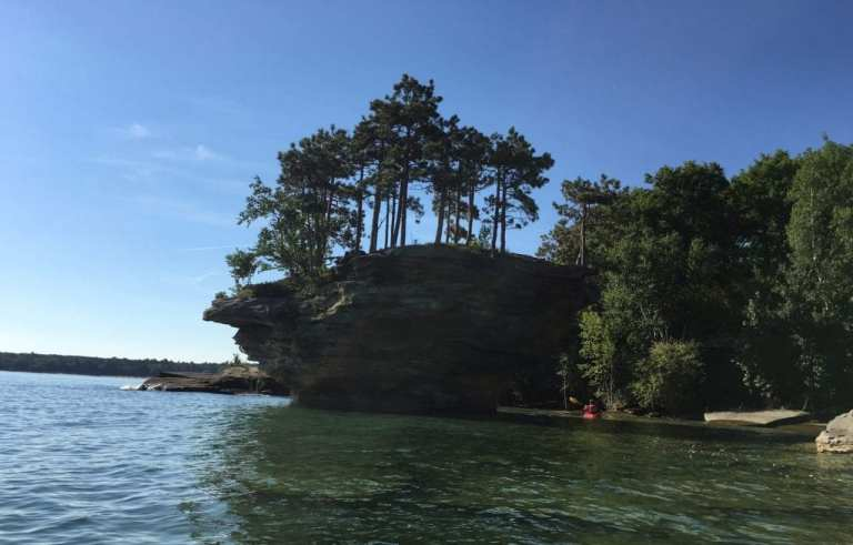 Turnip Rock Near Pointe Aux Barques Michigan