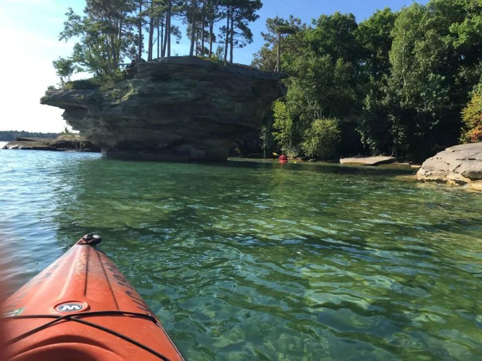 Turnip Rock Michigan Kayaking