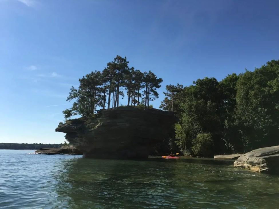Paddle to Turnip Rock Port Austin Michigan