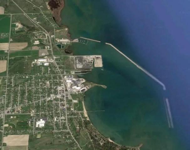 Harbor Beach from Air