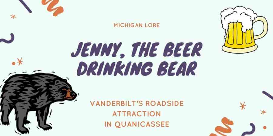 Beer Drinking Bear along Michigan M-25