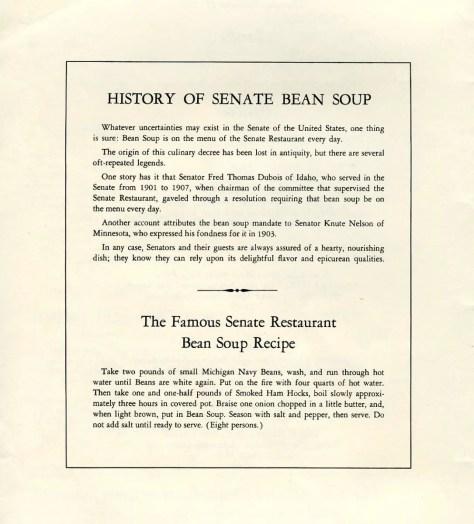 Senate Michigan Navy Bean Soup.