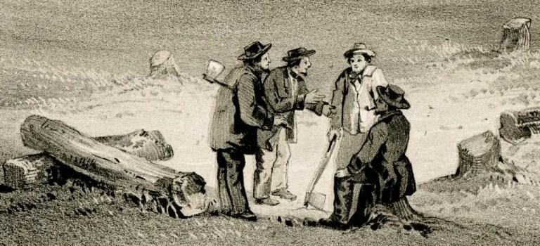 Scene of Ora et Labora Colony near Bay Port Michigan