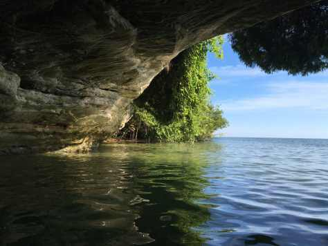 Pointe Aux Barques Sea Cave Michigan Kayaking