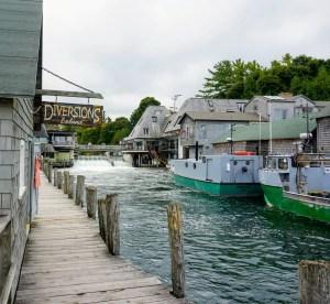Dockside at Fishtown in Leland Michigan