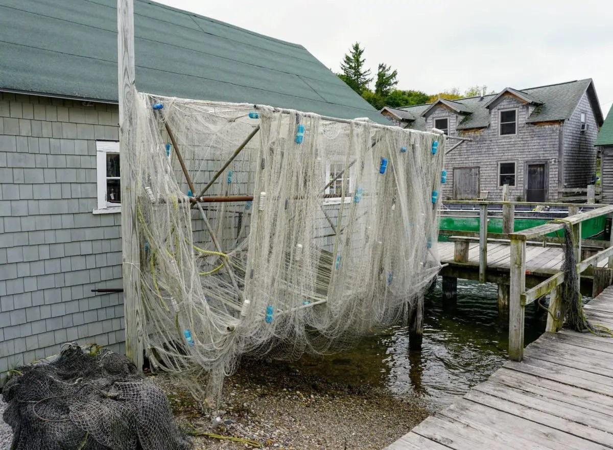 Fishtown nets drying