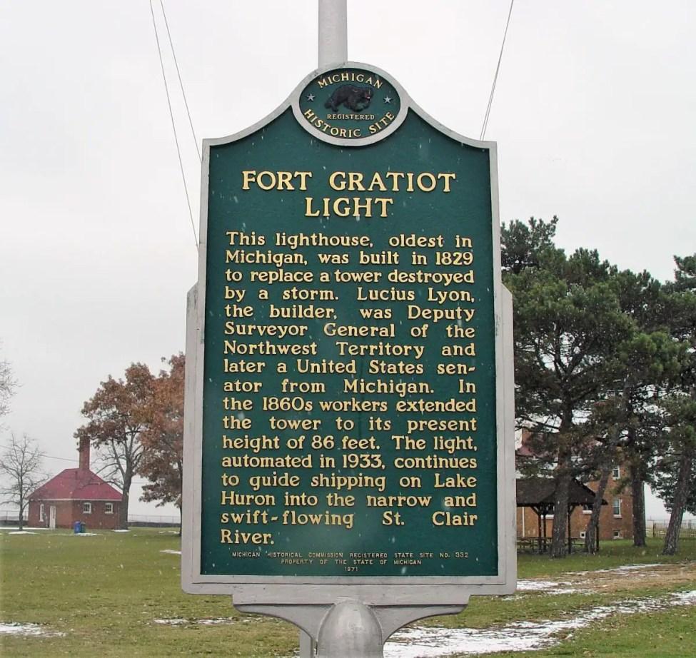 Fort Gratiot Lighthouse Marker