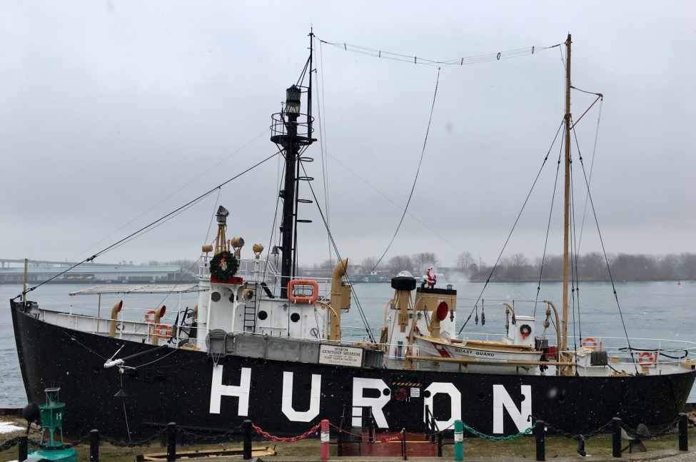 LightShip Huron in the Snow