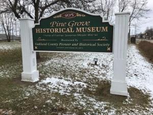 Pine Grove Museum Sign