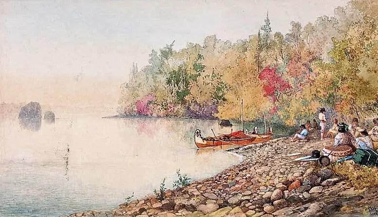 "Campement de ""Voyageurs"" - Henry Schoolcraft"