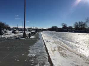 Frozen Caseville Harbor