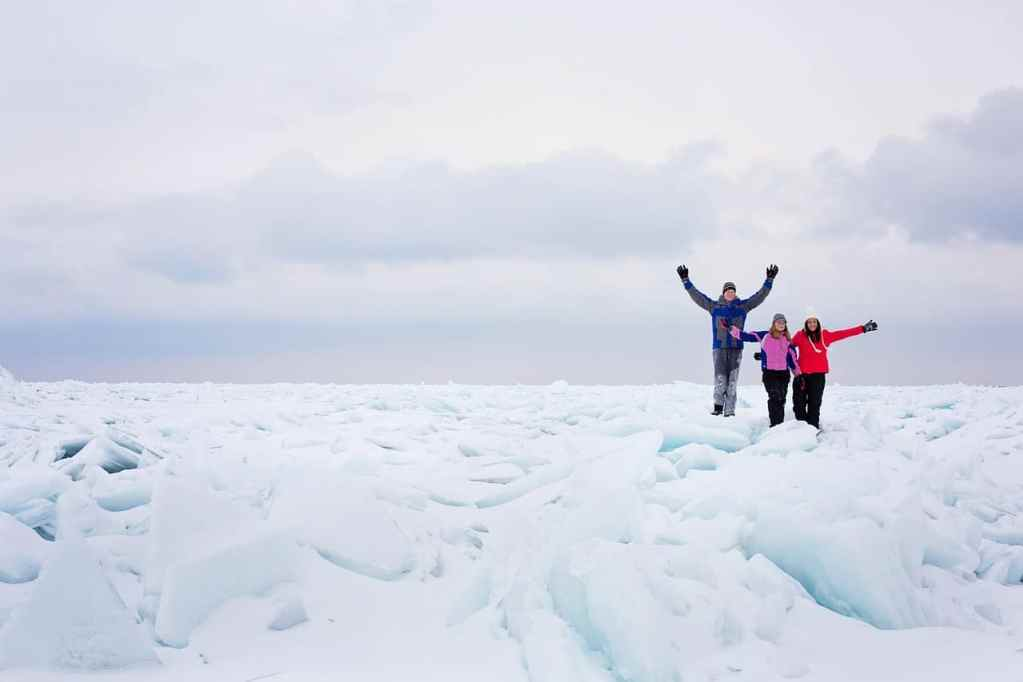 Walking on the Ice of the Great Lakes