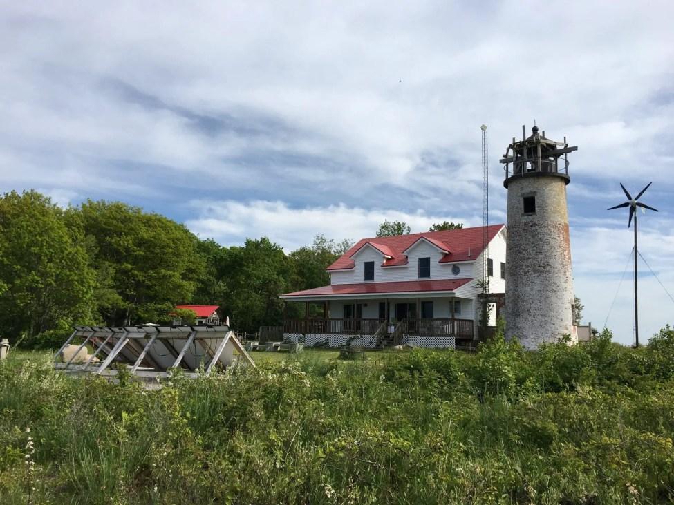 Charity Island Lighthouse and Solar