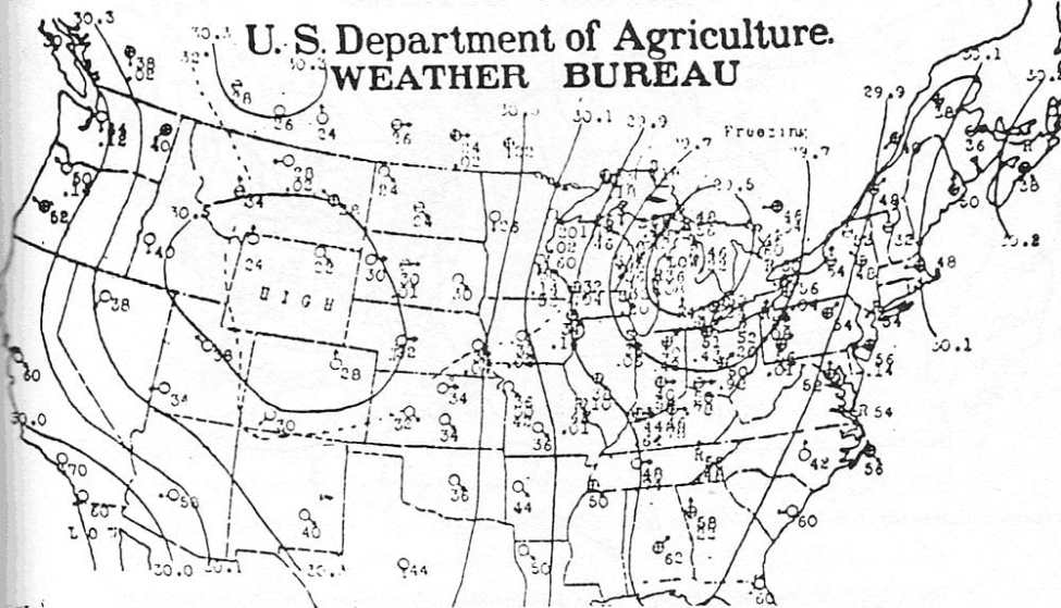 Weather map of November 8th, 1913.