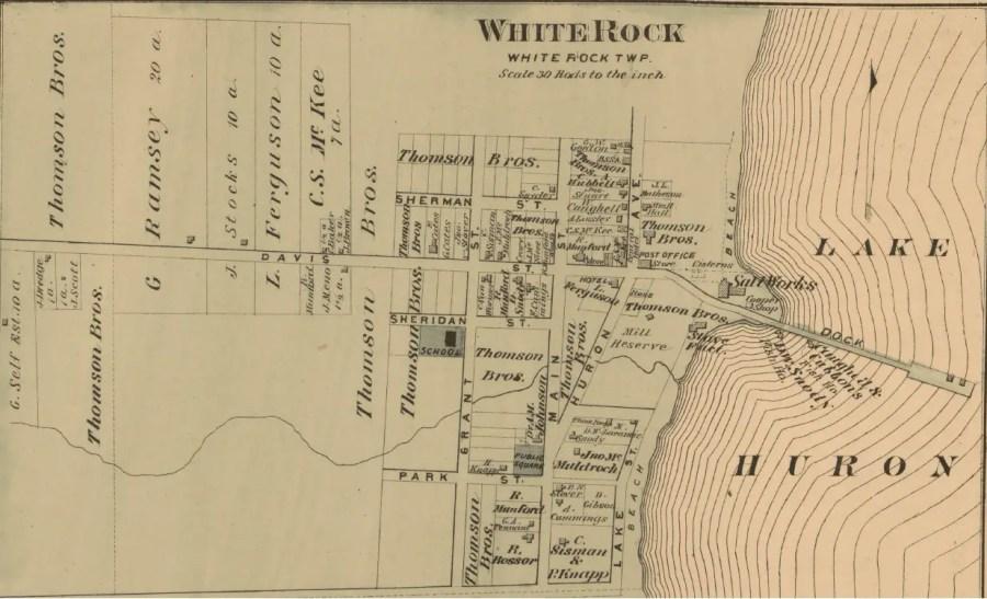 White Rock City Map 1875