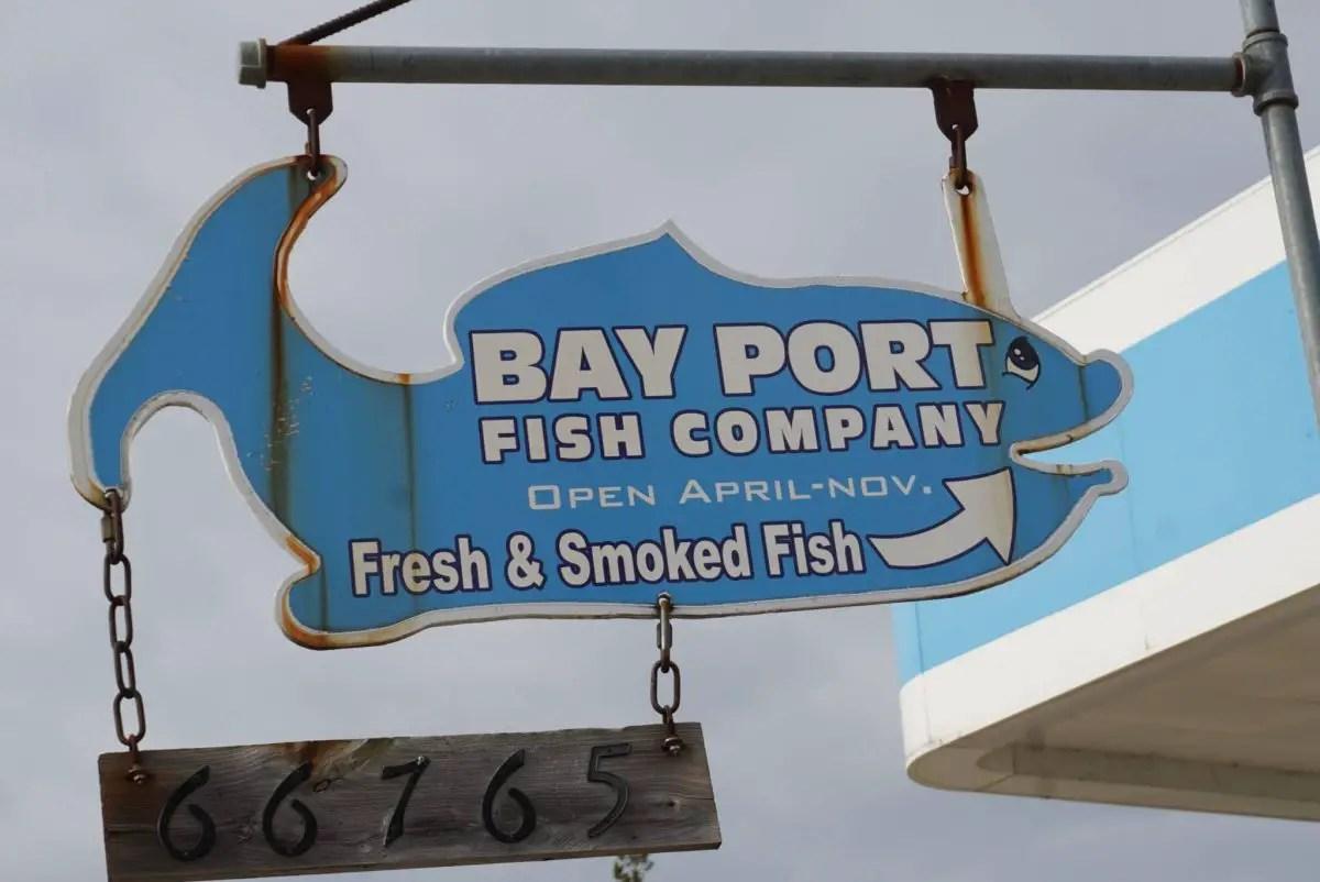 Bay Port Fish Company Sign