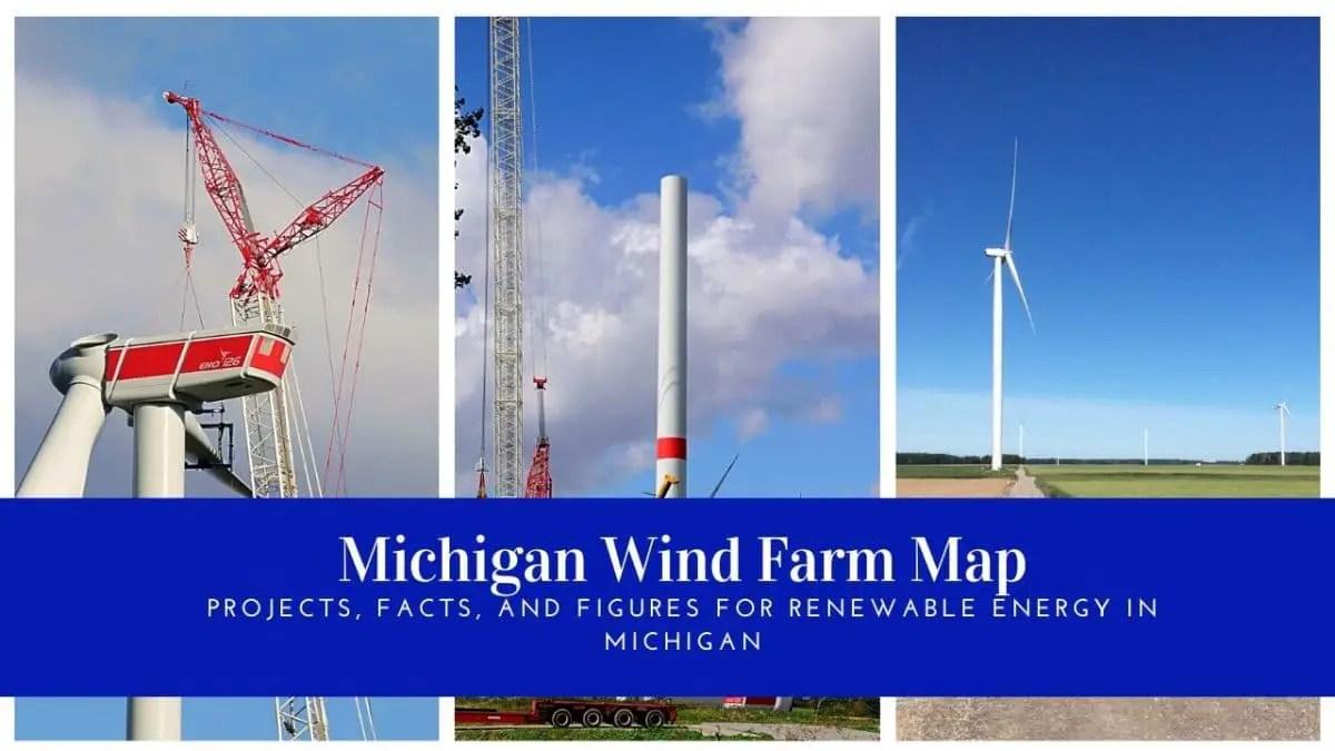 Michigan Wind Farm Map
