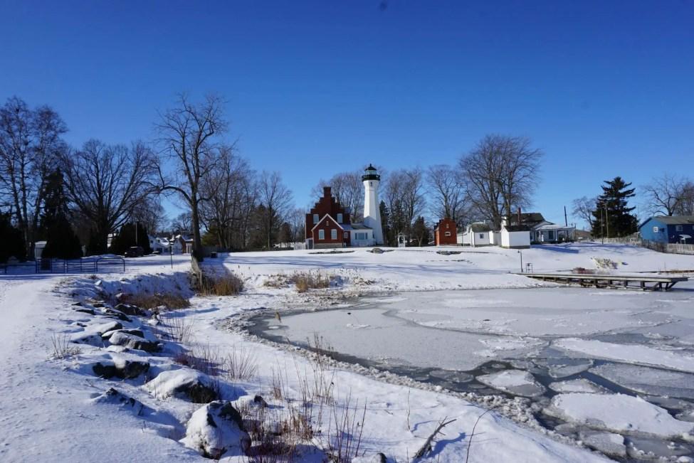 Port Sanilac Light by Harbor - Michigan's Thumb - Michigan's Upper Thumb