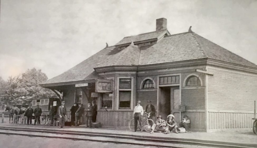 Marlette Depot with Passengers