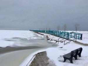 Caseville Breakwall Winter