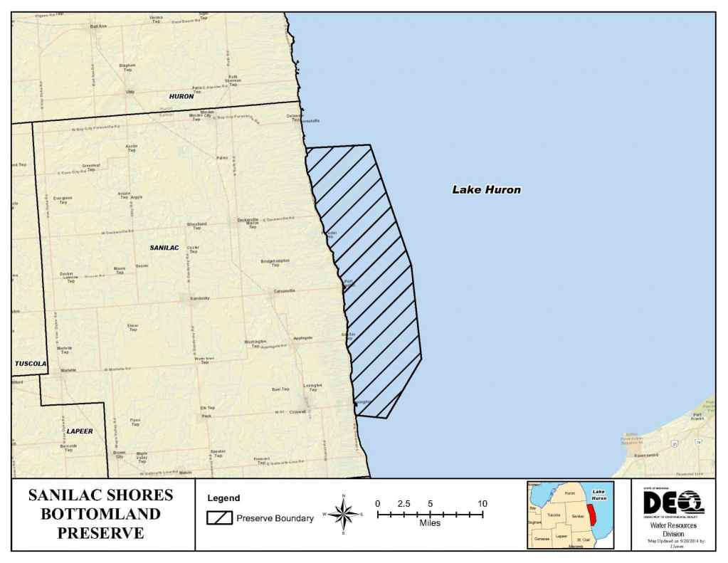 Michigan Shipwrecks - Sanilac Shores Underwater Preserve - lake huron shipwreck map