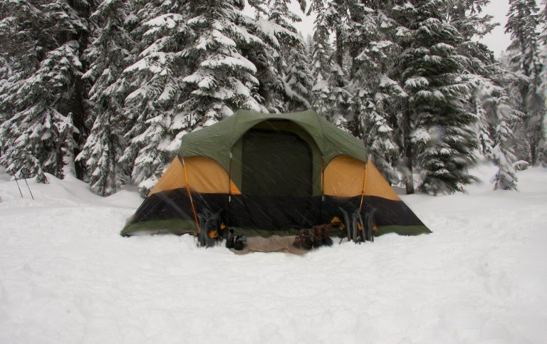 Tent in the Winter Snow - Winter Camping