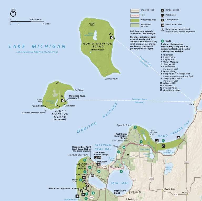 Sleeping Bear Dunes and Manitou Islands