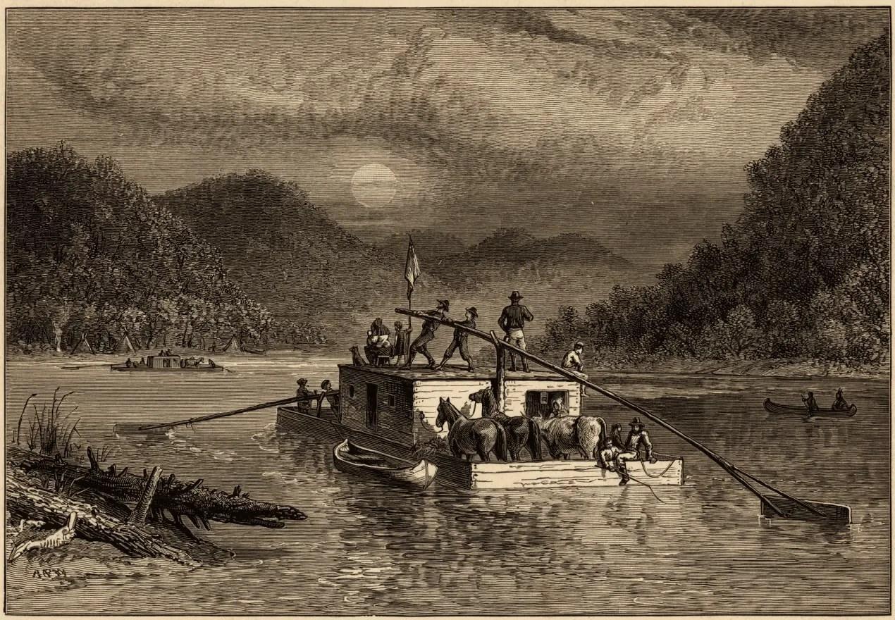 Jacob Parkhurst Flat Boat