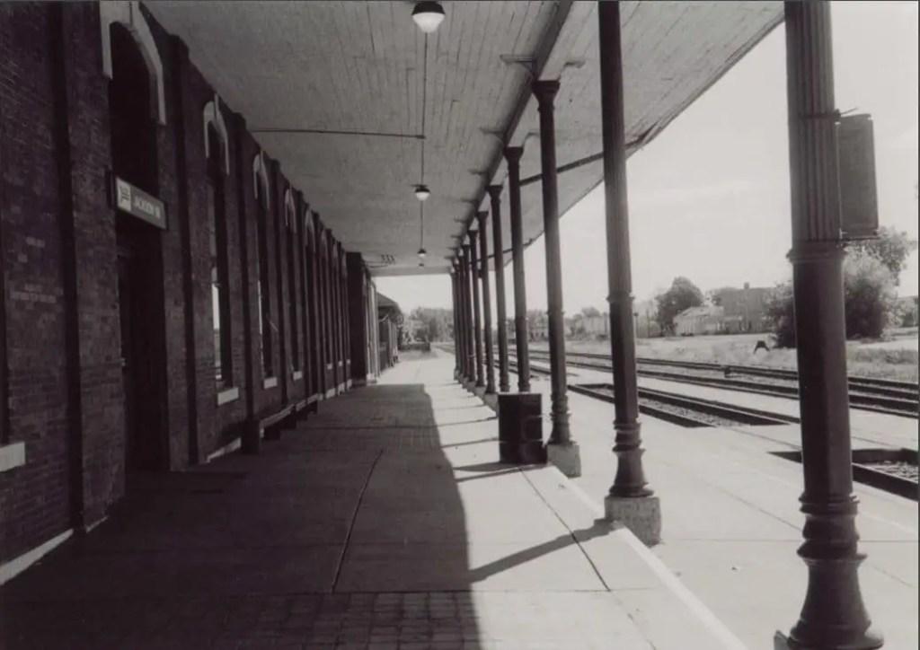 Jackson's Michigan Central Depot Platform