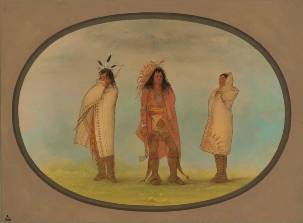Three Iroquois Indians-Dark - Fortnight in the Wilderness