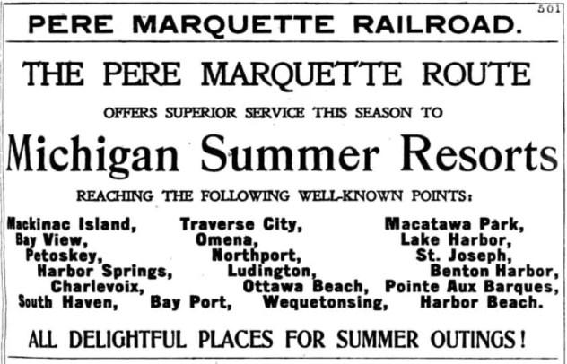 Pere Marquette Railroad Ad