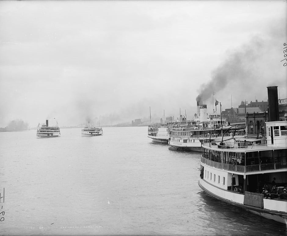 Steamers Detroit Michigan 1910