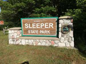Sleeper State Park Welcome Sign