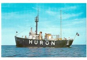 1960s Postcard of Lightship Huron