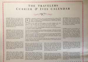 Currier & Ives 1971 Calendar Collection