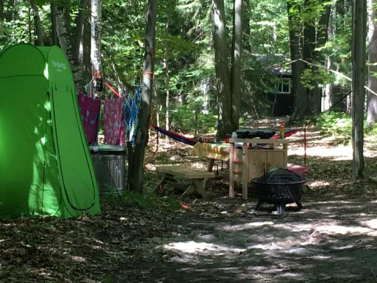 Michigan Glamping Safari Camp Kitchen at Sleeper State Park