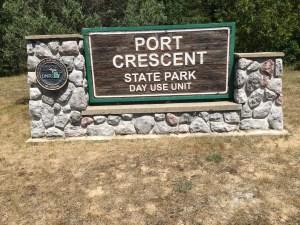 Port Crescent State Park Sign