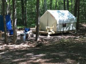 Safari Campsite at Sleeper State Park