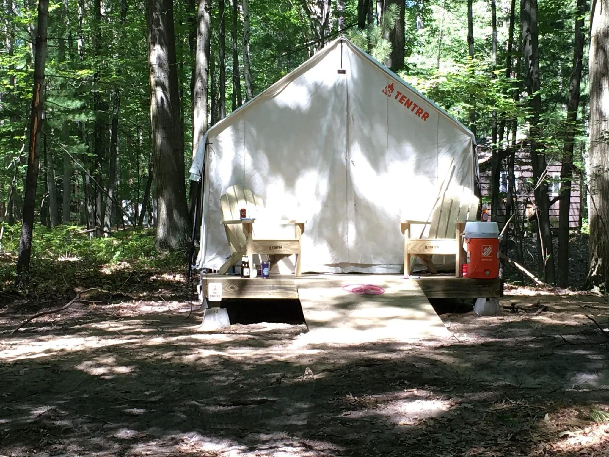 Safari Tent at Sleeper State Park