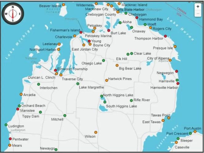 Michigan DNR Camping Map