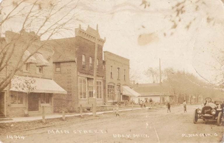 Ubly Main Street circa 1900 - Courtesy Minden City Herald