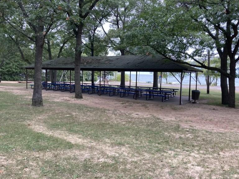 Oak Beach County Park Pavilion - Camping Near Caseville MI