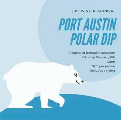 Port Austin Winter Carnival 2021 - Polar Bear Dip