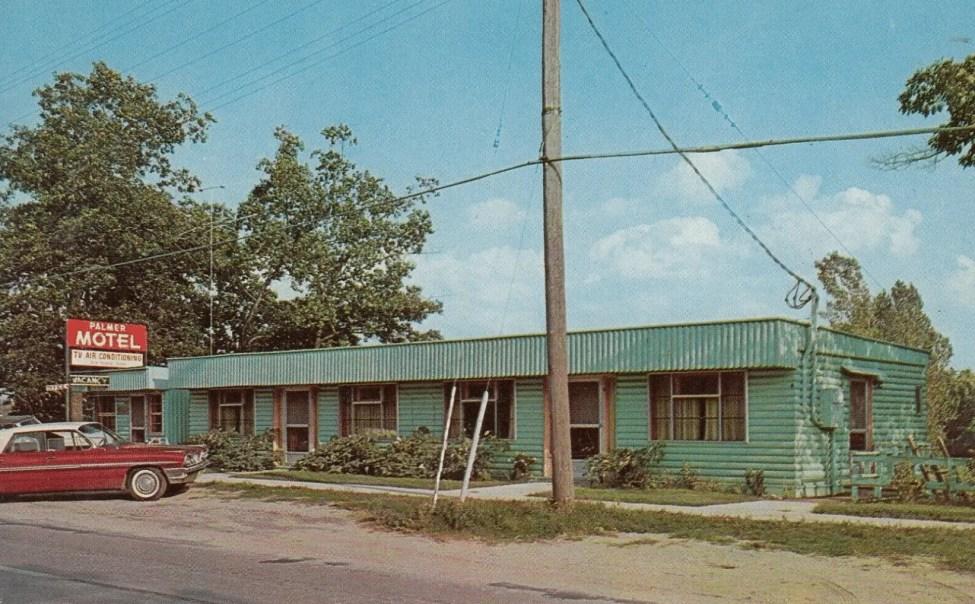 Palmer Motel Caseville Postcard