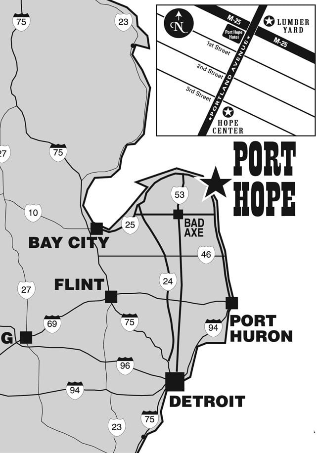 Map to to the Port Hope Festival