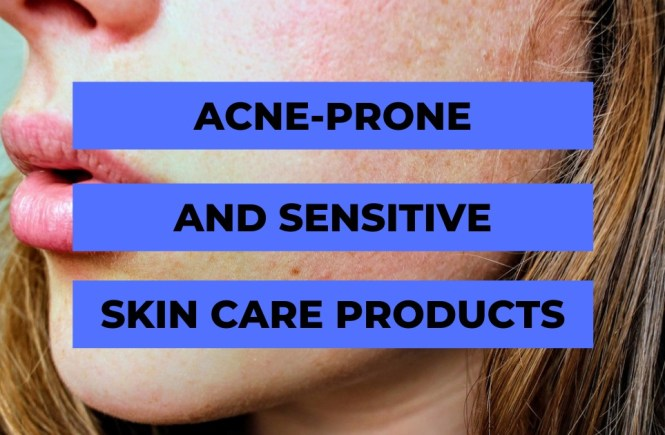 acne sensitive skin care products face