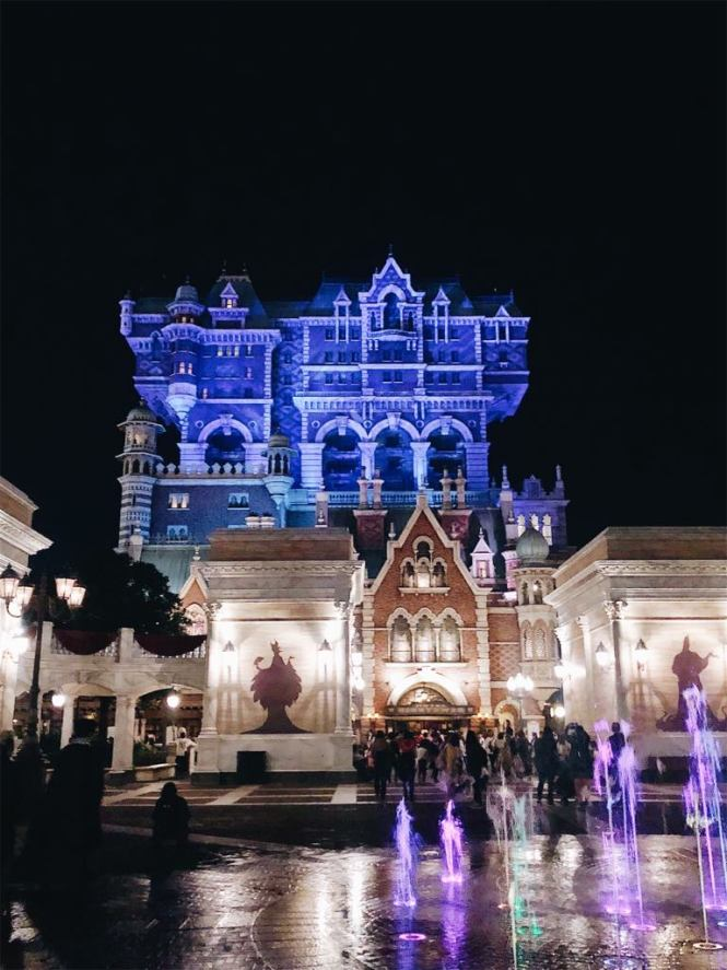 Tokyo DisneySea Tower Of Terror at night